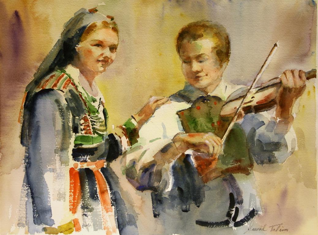 Bunadskledd Akvarell (28x38 cm) kr 3200 ur