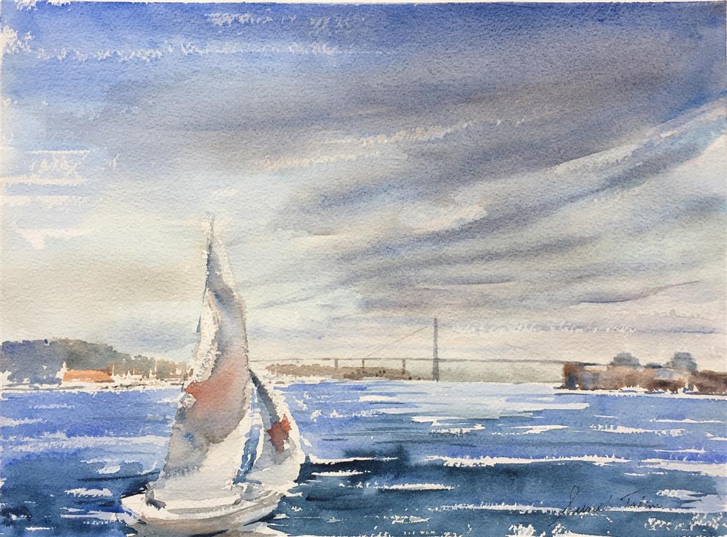 Bybroen Akvarell (28x38 cm) kr 3500 ur