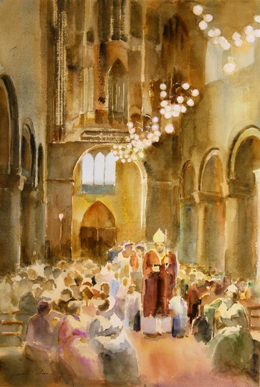 Domkirken II Akvarell (55x38 cm) kr 7500 ur