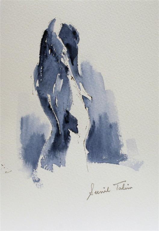 Gilda stretching her arms Akvarell (27x22 cm) kr 1000 ur