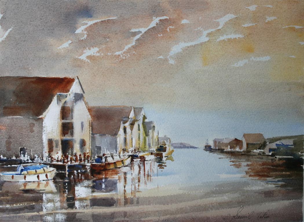 Gylden kveld Akvarell (28x38 cm) kr 3600 ur