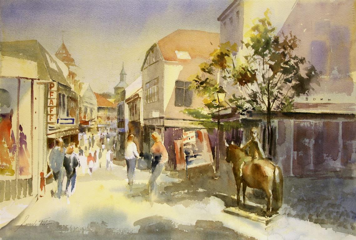 Kirkegaten Akvarell (38x55 cm) kr 3700 ur