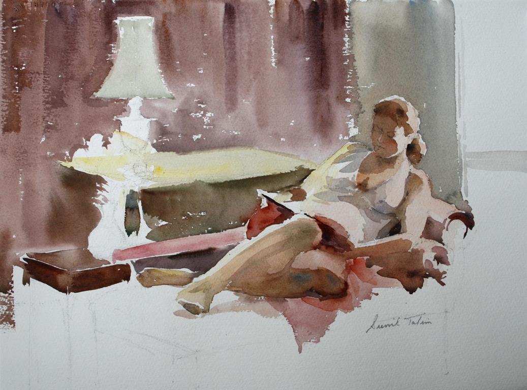 Lesestund Akvarell 2400 ur
