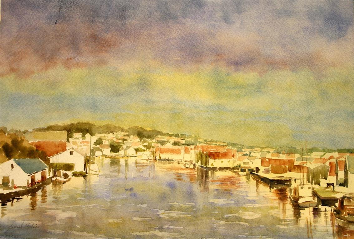 Minne fra Rogaland Akvarell 38x55 cm 7000 ur