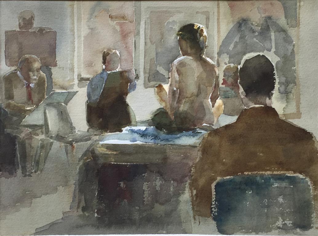 Modelen Akvarell (28x38 cm) kr 3200 ur