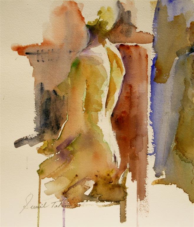 Nude study, a back view Akvarell 27x23 cm 1400 ur