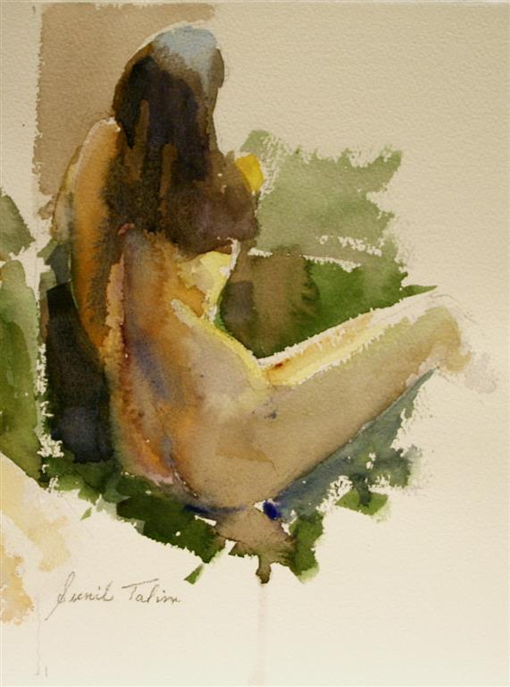 Sitting nude Akvarell 28x21 cm 1700 ur