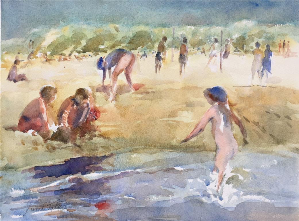 Sola Beach II Akvarell (28x38 cm) kr 3200 ur