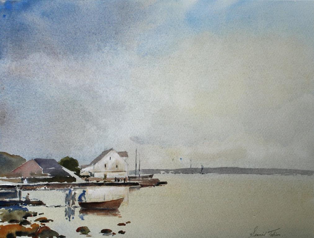 Stille ettermiddag Akvarell 28x38 cm 3200 ur