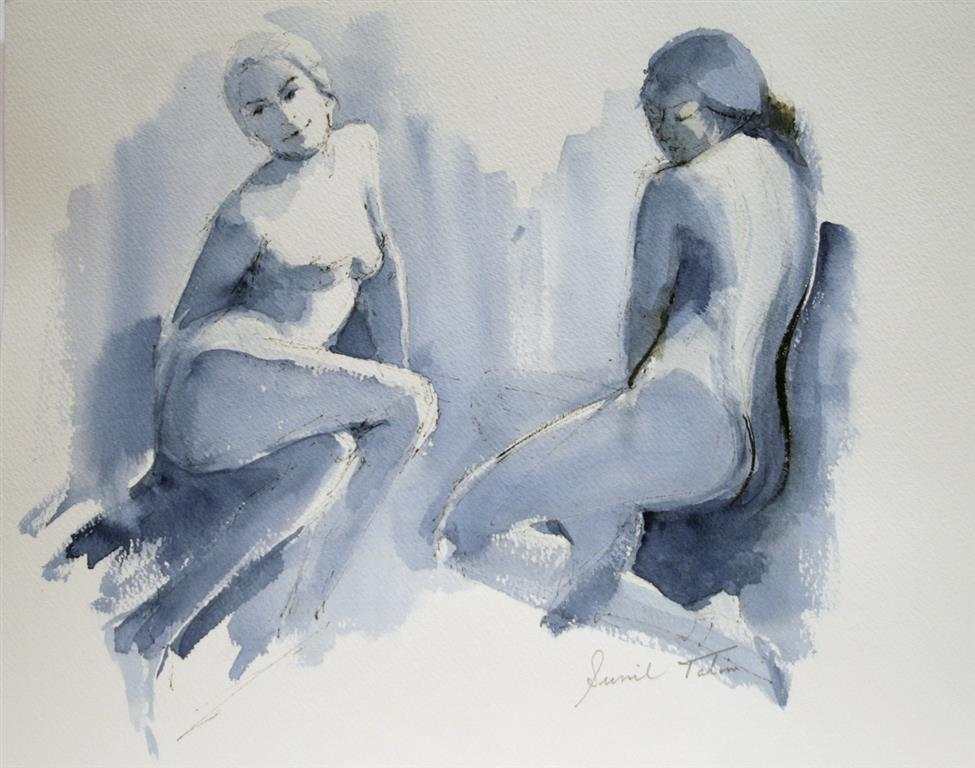 Two nude studies Akvarell 28x38 cm 1500 ur