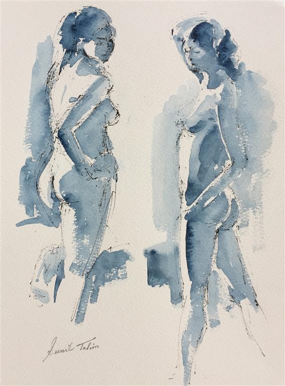 Two nude studies Akvarell (38x28 cm) kr 3200 ur
