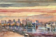 Breiavatnet Akvarell (31x49 cm) kr 5000 ur