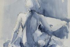 Charlotte Akvarell (28x25 cm) kr 1100 ur
