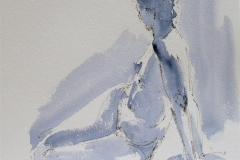 Charlotte, a back view Akvarell (28x27 cm) kr 1100 ur