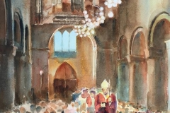 Domkirken Akvarell (55x37 cm) kr 7500 ur