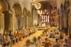 Domkirken I Akvarell (38x55 cm) kr 7500 ur