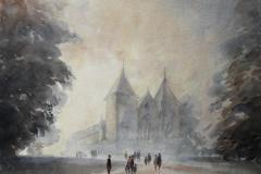 Domkirken IV Akvarell (28x38 cm) kr 3200 ur