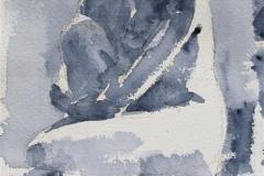 Gilda sitting on floor Akvarell (28x18 cm) kr 1200 ur