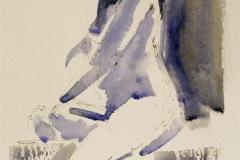 Gilda sitting on stool Akvarell (28x20 cm) kr 900 ur