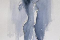 Laticia enjoying herself Akvarell 28x20 cm 1200 ur