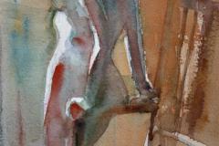 Lener seg til stol Akvarell 28x19 cm 1200 ur