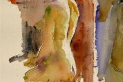Nude study, a back view Akvarell 27x23 cm 1400 ur