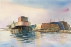 Oljemuseet II Akvarell (28x38 cm) kr 3200 ur