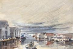Skudenes Akvarell (28x38 cm) kr 3200 ur