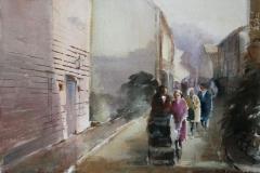 Søndagstur Akvarell 28x38 cm 3600 ur