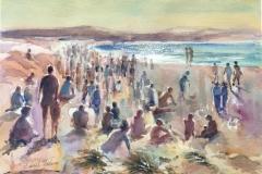 Sola Beach I Akvarell (28x38 cm) kr 3200 ur