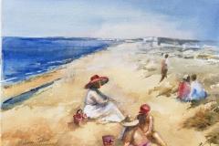 Sola III Beach Akvarell (28x38 cm) kr 3200 ur