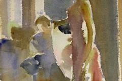 Standing in sun Akvarell 27x20 cm 1400 ur