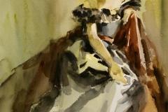Teaterkostymer Akvarell 38x28 cm 3200 ur