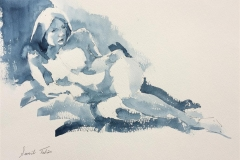 Tonelise Akvarell (26x36 cm) kr 2800 ur