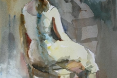 Venninne-prat Akvarell 38x28 cm 3200 ur