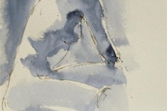What is on Minellas mind Akvarell 27x20 cm 1400 ur