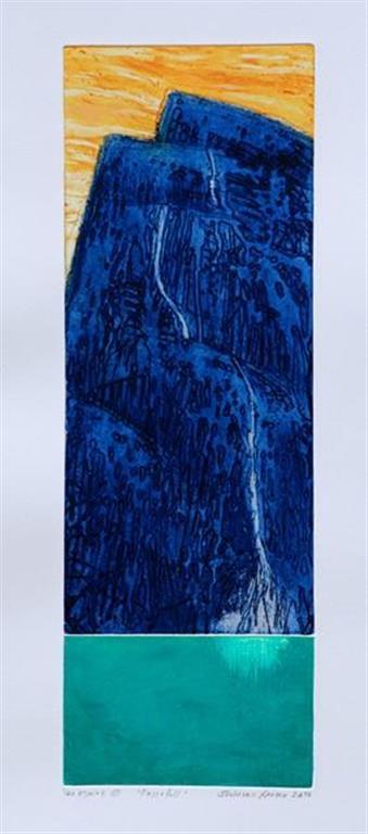 Fossefall Etsning (49x17 cm) kr 1700 ur