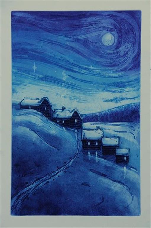 Julenatt Etsning (39x25 cm) kr 1700 ur