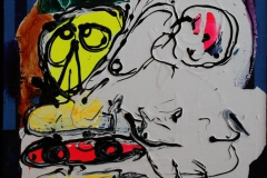Fuglekaos Akrylmaleri 40x40 cm 3500 mr