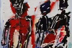 Ishockeymaalmanden Akrylmaleri 70x70 cm 6000 mr
