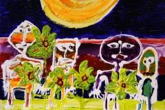 Solens Boern Akrylmaleri 40x50 cm 4000 mr