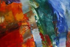 Red-Blue composition Oljemaleri 80x80 cm 20000 ur