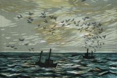 Makrellfiske Tresnitt 12x15 cm 1500,-kr u.r.
