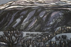Vinterdag, Flatdal Tresnitt 23,5x29 cm 4000,-kr u.r.