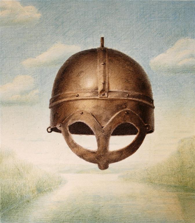Gjermundbohjelmen II Litografi 42x37 cm 1800 ur
