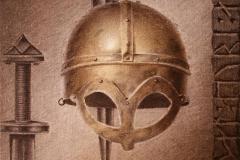 Gjermundbohjelmen I Litografi 42x37 cm 1800 ur