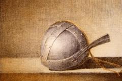 Hjelm I Litografi 19x24 cm 700 ur