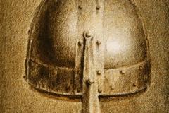 Hjelm II Litografi 11x8 cm 200 ur