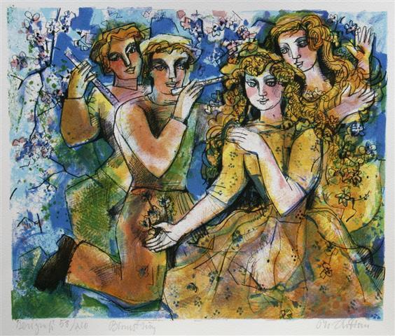 Blomstring Serigrafi (28x33 cm) kr 1500 ur