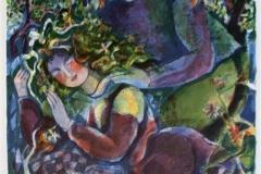 Søvnen Serigrafi (59x50 cm) kr 2000 ur